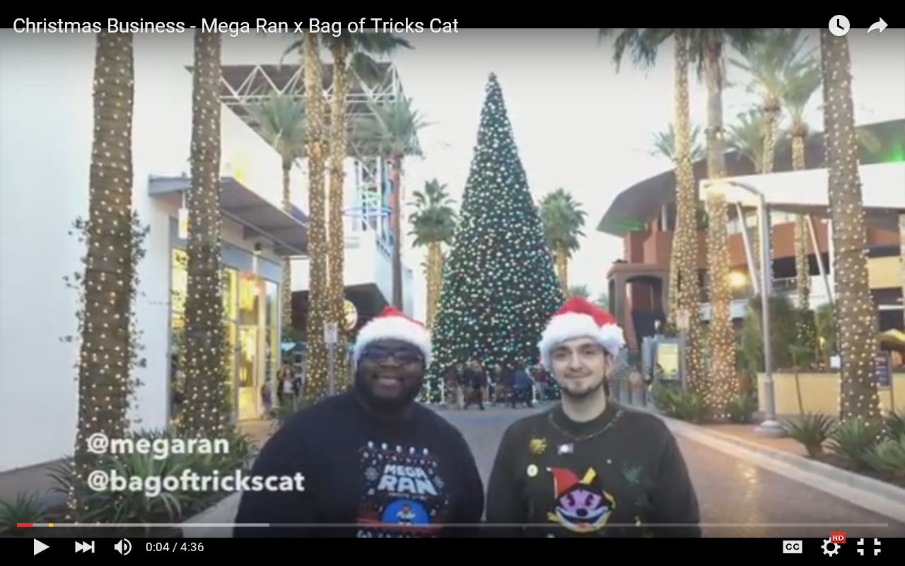 Mega Ran And Bag Of Tricks Cat – Christmas Business